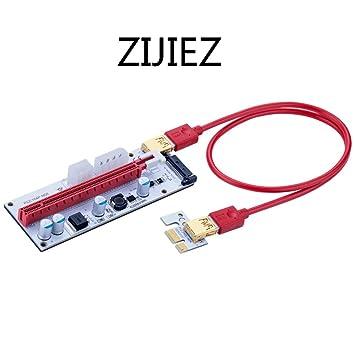 10Pack USB 3.0 PCI-E Ver 008S SATA 1x to 16x Extender Riser GPU Adapter BTC ETH