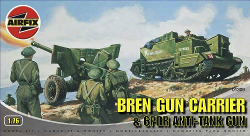 cale Bren Gun Carrier and 6PDR Anti-Tank Gun Military Vehicles Classic Kit Series 1 ()
