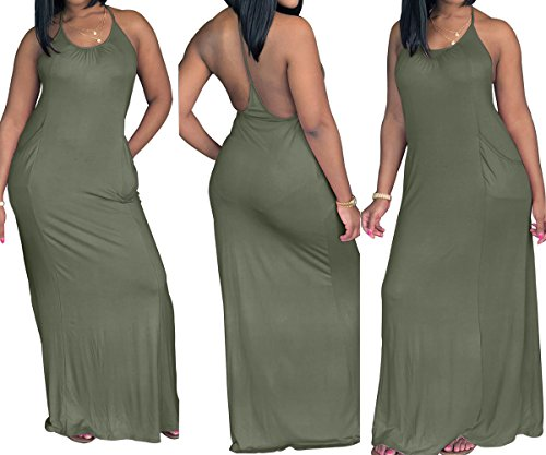 Unie Verte Fte Plage de Robe Nu Soire Couleur Fashion Dos de Up Sexy Robe Femmes Robes Cocktail Arme Maxi de t Pin qvAx5w1fx