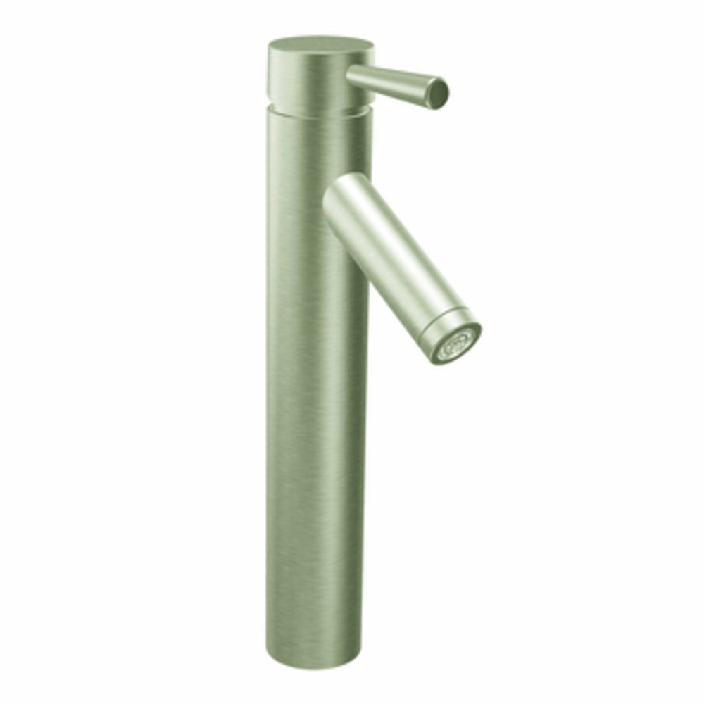 Moen 6111BN Level One-Handlelow Arc Vessel Bathroom Faucet, Brushed ...