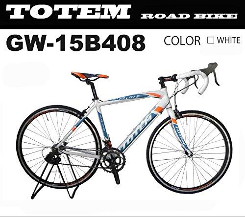 totem ロードバイク スポーツバイク 自転車 超軽量アルミフレーム 700C ダブルクイックハブ シマノ SHIMANO 全国送料無料 最安値 TOTEM トーテム 通勤通学 26インチ STIレバー デュアルコントロールレバー 15B408 B0786DXV2Z700x480 ホワイト