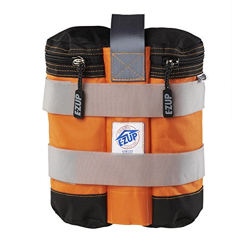 E-Z UP WB3SOBK4 Weight Bag (Set of 4), 25 lb, Steel Orange with Black Accents