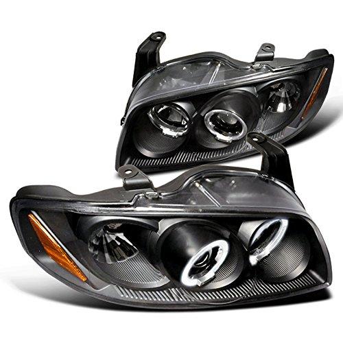 Spec-D Tuning Halo Projector Headlights Jdm Black for 2004-2006 Nissan Sentra Head Light Assembly Left + Right Pair
