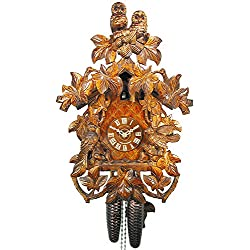 German Cuckoo Clock 8-day-movement Carved-Style 19.00 inch - Authentic black forest cuckoo clock by August Schwer