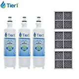 Lg Refrigerator Water Filter Lt700p Tier1 LT700P & LT120F Combo Replacement for LG LT700P & LT120F Refrigerator Water & Air Filter Combo 3 Pack