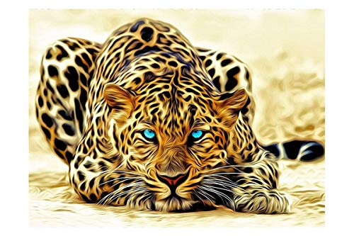 Mobicus 5D DIY Diamond Painting by Number Kits,Leopard(12X16inch/30X40CM) ()