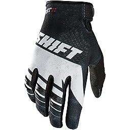 Shift Racing Assault Men\'s MX Motorcycle Gloves - Black/White / 4X-Large