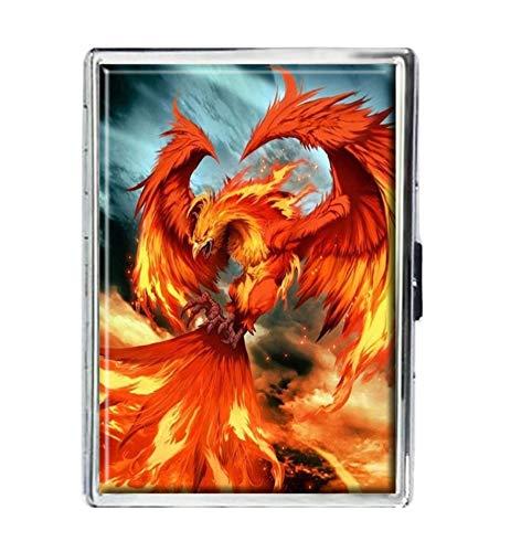 Fire Phoenix Design Stainless Steel ID Cigarettes Case Holder Stylish covid 19 (Id Credit Card Cigarette Case coronavirus)