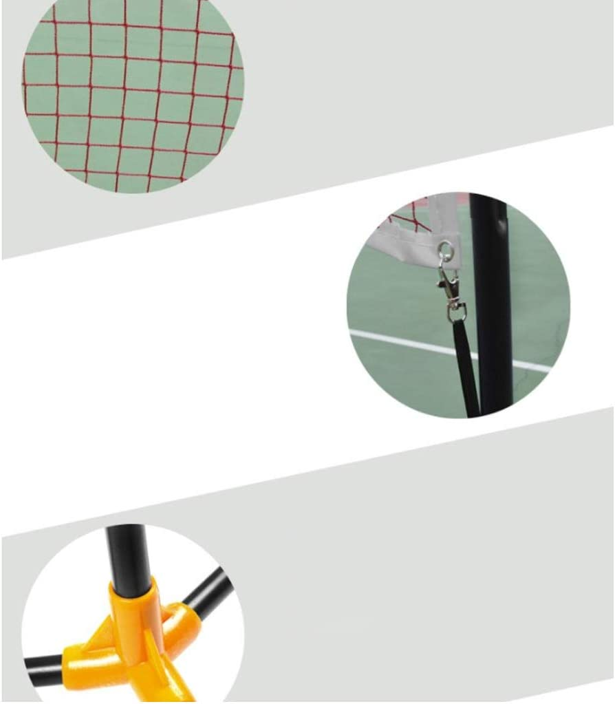 Mobile and Portable Outdoor YILANJUN Badminton Net Stand Simple Badminton Net Rack 5.1m and 6.1m Singles and Doubles Suitable for Leisure