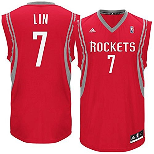 Jeremy Lin Houston Rockets Red/Gray NBA Youth Revolution 30 Replica Jersey (Small 8)