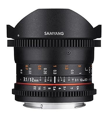 Samyang VDSLR II 12mm T3.1 Ultra Wide Cine Fisheye Lens by AMZN9