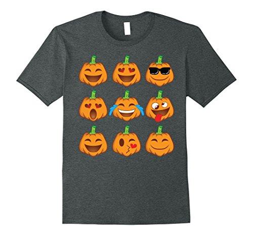 Smiley Costume Halloween (Mens Pumpkin Face Shirt - Smiley Pumpkin Shirt Halloween Costume XL Dark Heather)