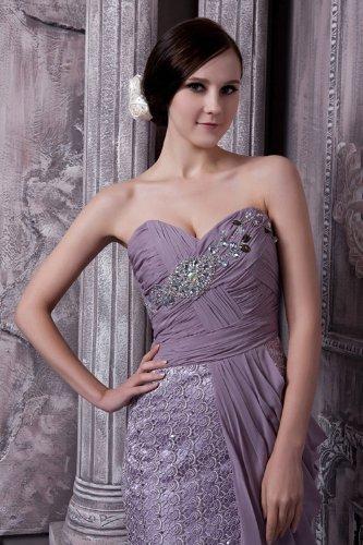 Formale lila traegerlosen Lila Lange Friesen Wunderschoene GEORGE Abendkleid BRIDE qSECwxt