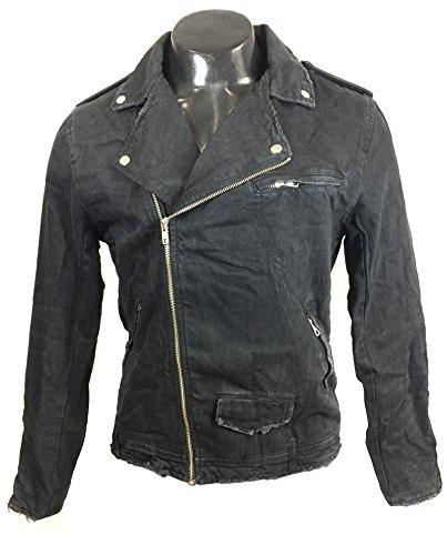 Zara Homme Blouson de motard en jean 8062/400