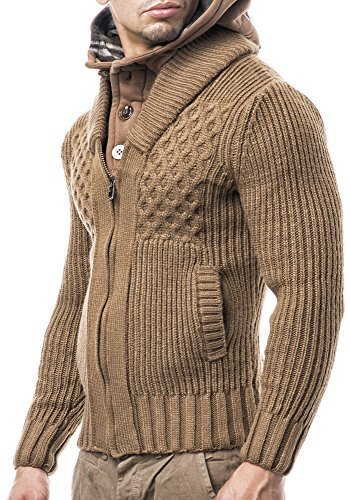 Balandi Chaqueta de punto hombres Jersey para hombre; Tamaños s XL, § marrón: Amazon.es: Ropa y accesorios
