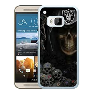 Oakland Raiders White Fantastic Unique Cusstomized HTC ONE M9 Case