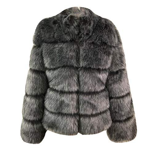 Chaqueta De Elegante Piel Mujer Sintética Alto Cuello 2 Abrigo Beikoard Damas abrigos q7651twt