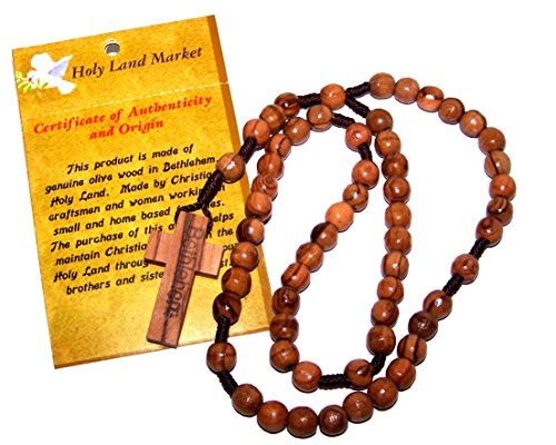 Olive Round Beads - Olive Wood Round String Rosary