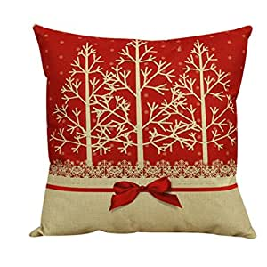 Beautyvan Comfortable Vintage Christmas Cushion Cover Sofa Bed Home Decor Pillow Case