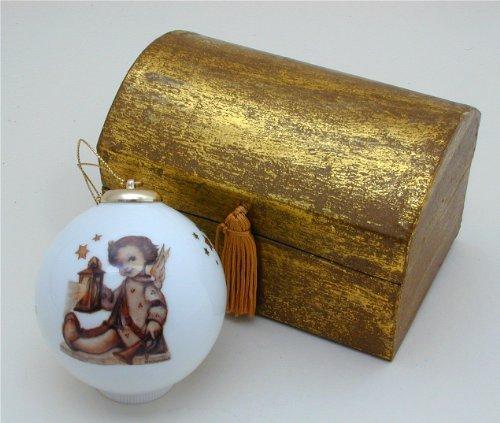 Guiding Angel German Porcelain Ball Ornament ()