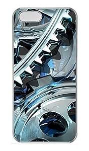 iPhone 5 5S Case 3D Gear Design PC Custom iPhone 5 5S Case Cover Transparent