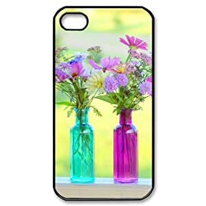 Beautiful Wildflowers DIY Cover Case with Hard Shell Protection for Iphone 4,4S Case lxa#423875