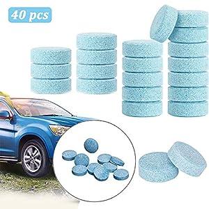 MOCFLY Lot de 40 tablettes de nettoyage pour pare-brise de voiture, nettoyage, nettoyage, effervescent, effervescent…