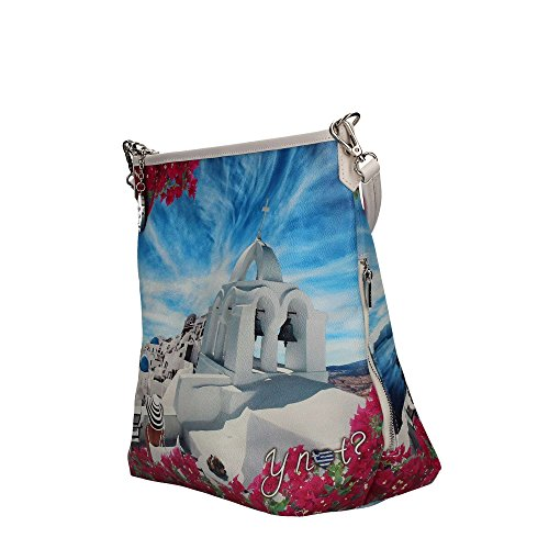 BORSA DONNA Y NOT? HOBO BAG CON TRACOLLA WHITE PARTY INSTANT J-349