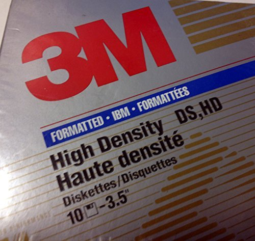 3M High Density 3.5'' Floppy Disks, pack of 10 by 3M