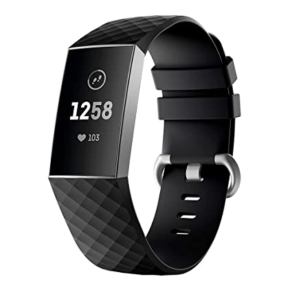 Fitbit Charge 3 Aktivitätstracker incl zweites Armband aus Metall Fitness & Jogging
