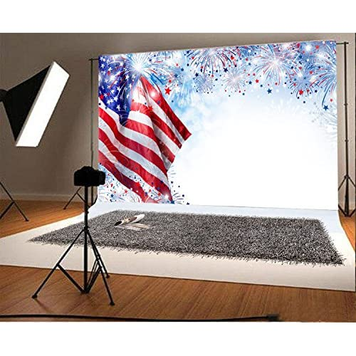 free shipping leowefowa 5x3ft 4th july backdrop american flag