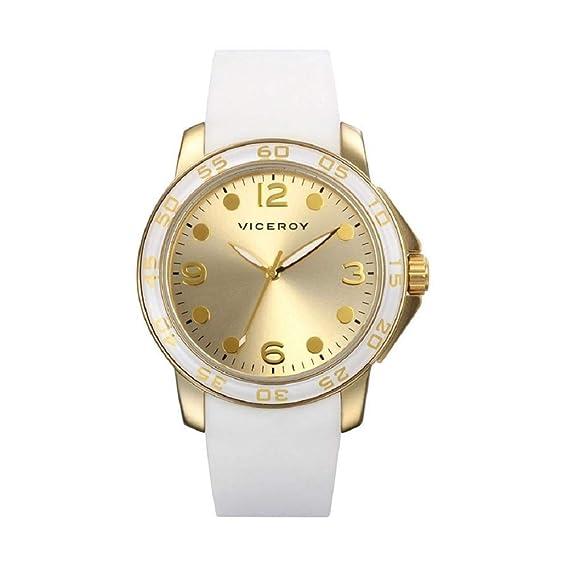 Reloj Viceroy de Mujer. Modelo 47706-25. Esfera redonda de color dorado