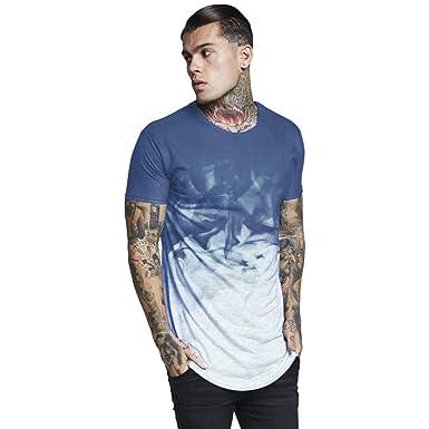 e98cf9e76fb NPRADLA Mode T Shirt Chemise Pull à Col Rond Et Imprimé pour Hommes à Manches  Courtes