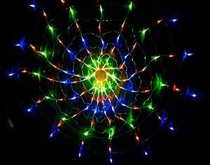 hkbayi Colorful RGB Net 120 LED Light string light for Christmas Party Wedding 110V