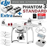 DJI Phantom 3 Standard Quadcopter Drone with 2.7K HD Video Camera+ EXTRA BATTERY