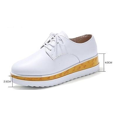 2a81b1b33e6 Mme Spring chaussures d ascenseur pente avec une croûte épaisse chaussures  Mme chaussures de muffins britanniques chaussures de sport