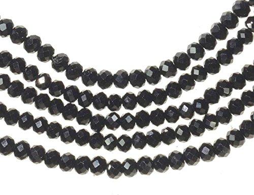 Black Spinel Strand Facet 2.3mm Rondelle (Necklace Black Spinel Bead)
