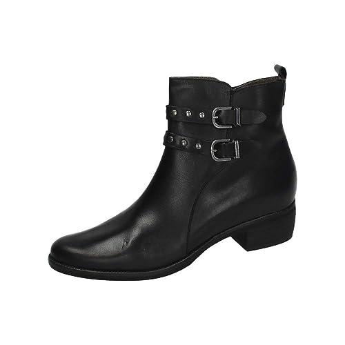 744825f141e MADE IN SPAIN 1054 Botin Negro DE Piel Mujer Botines  Amazon.es  Zapatos y  complementos