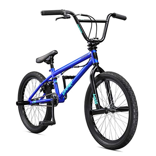 - Mongoose Legion L10 Freestyle BMX Bike for Beginner Riders, Featuring Hi-Ten Steel Frame and Micro Drive 25x9T BMX Gearing with 20-Inch Wheels, Blue