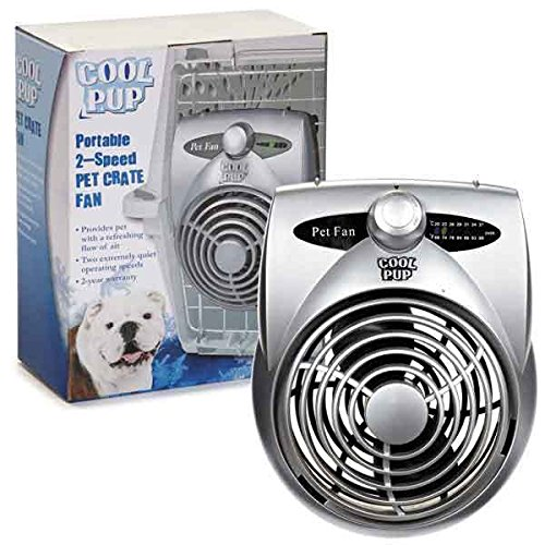 - Cool Pup Dog Crate Cooling Fan Pet Cage Two Hours of Cold Airflow Hanging Fans