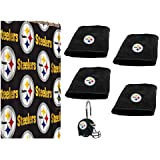 Pittsburgh Steelers COMBO Shower Curtain, Matching Shower Curtain Rings U0026  Set Of (Four)
