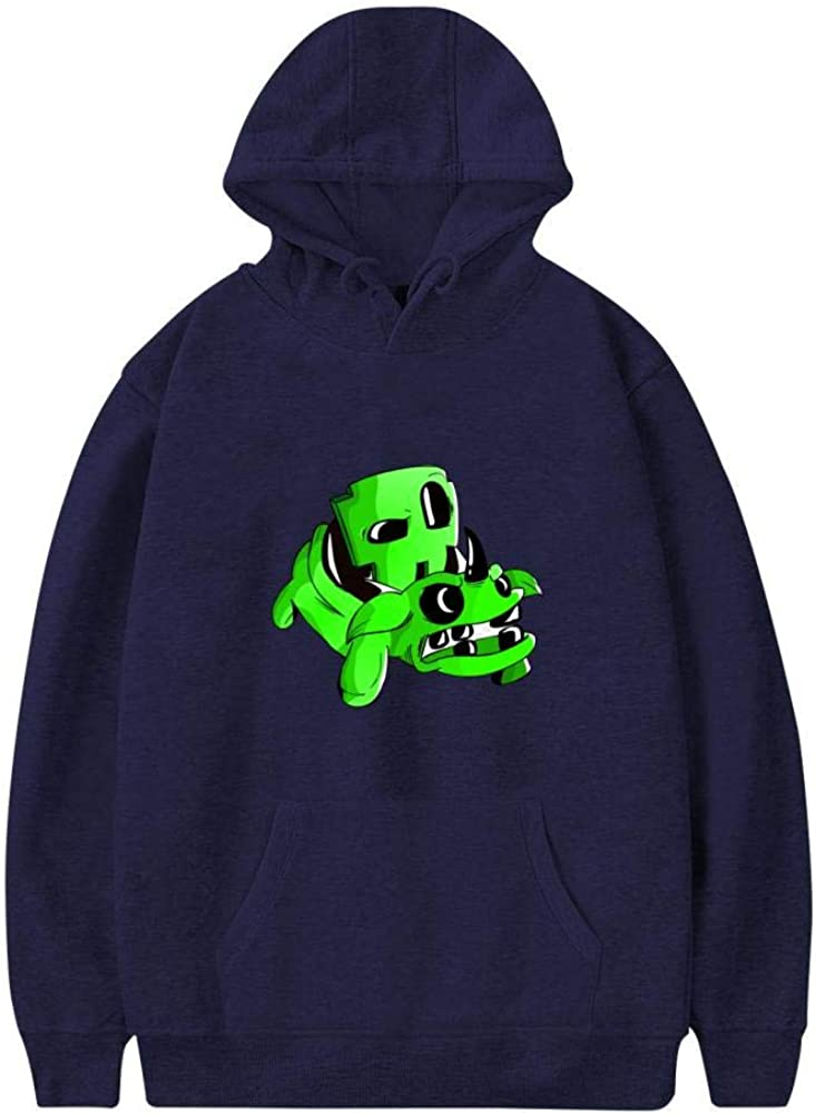 QAX-GTD Geometry-Dash Mens 3D Printed Casual Sweater Sweatshirt with Pocket Pullover Hoodies Hooded Hat Pouch Cotton Jacket