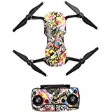 Hobby Signal Waterproof PVC Carbon Grain Stickers Carbon Graphic Skin Full Set Drone Body Battery Remote Controller Decals for DJI (Scrawl)