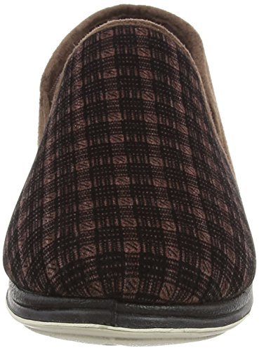 Chaussons Brown Check Wool Chaud Padders Mix Doublé Albert Mules suede Homme 5xRn7qAw