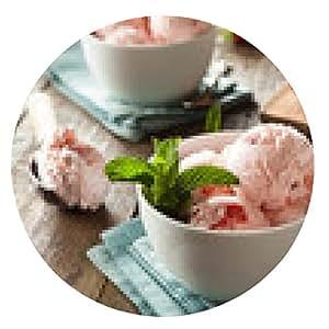 alfombrilla de ratón Fresa frío helado - ronda - 20cm
