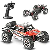 RC Cars, Abask All Terrain 45+ MPH 1/12 Radio Remote Control Car High Speed Off-Road 2.4Ghz 4WD High-Performance Waterproof Shockproof Electronic Car For Monster Hobby Truck Lovers(Red) …