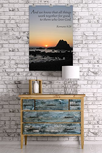 Romans 8:28 – Inspirational (24×36 Collectible Giclee Gallery Print, Wall Decor Travel Poster)