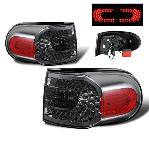 Fj Accessories Aftermarket Cruiser (SPPC Smoke LED Tail Lights Assembly Set for Toyota Fj Cruiser - (Pair) Driver Left and Passenger Right Side Replacement)