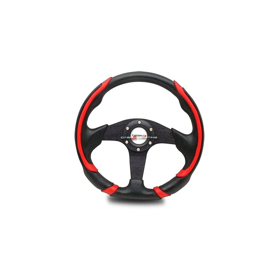 Battle Style Racing Steering Wheel   Black Automotive