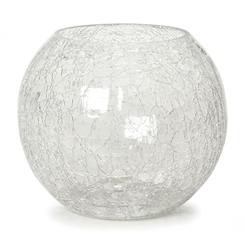 - Darice SDC-1064 Bowl - Crackle Glass - Clear - 5.24 inches